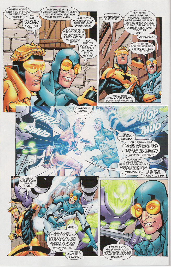 Two Pages From Booster Gold Funny Aneurysm Moment